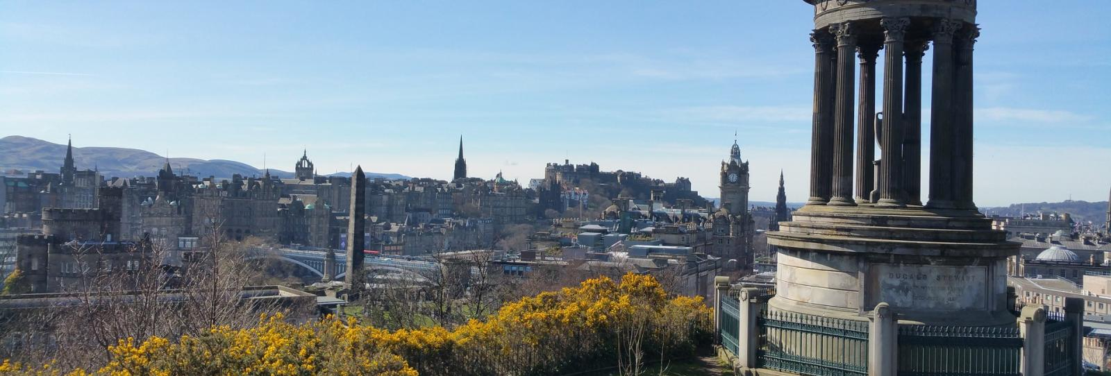 Amazing view from Carlton Hill over Edinburgh